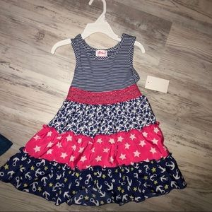 Brand New Adorable Girls Dress w/ Anchors & Stars